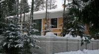 кирпичный дом в стиле Райт