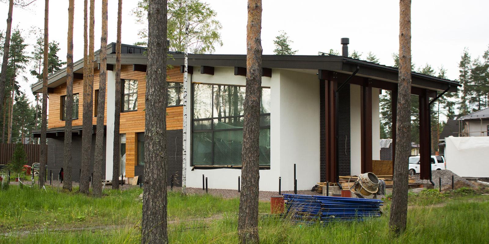 Проектирование кирпичного дома с гаражом