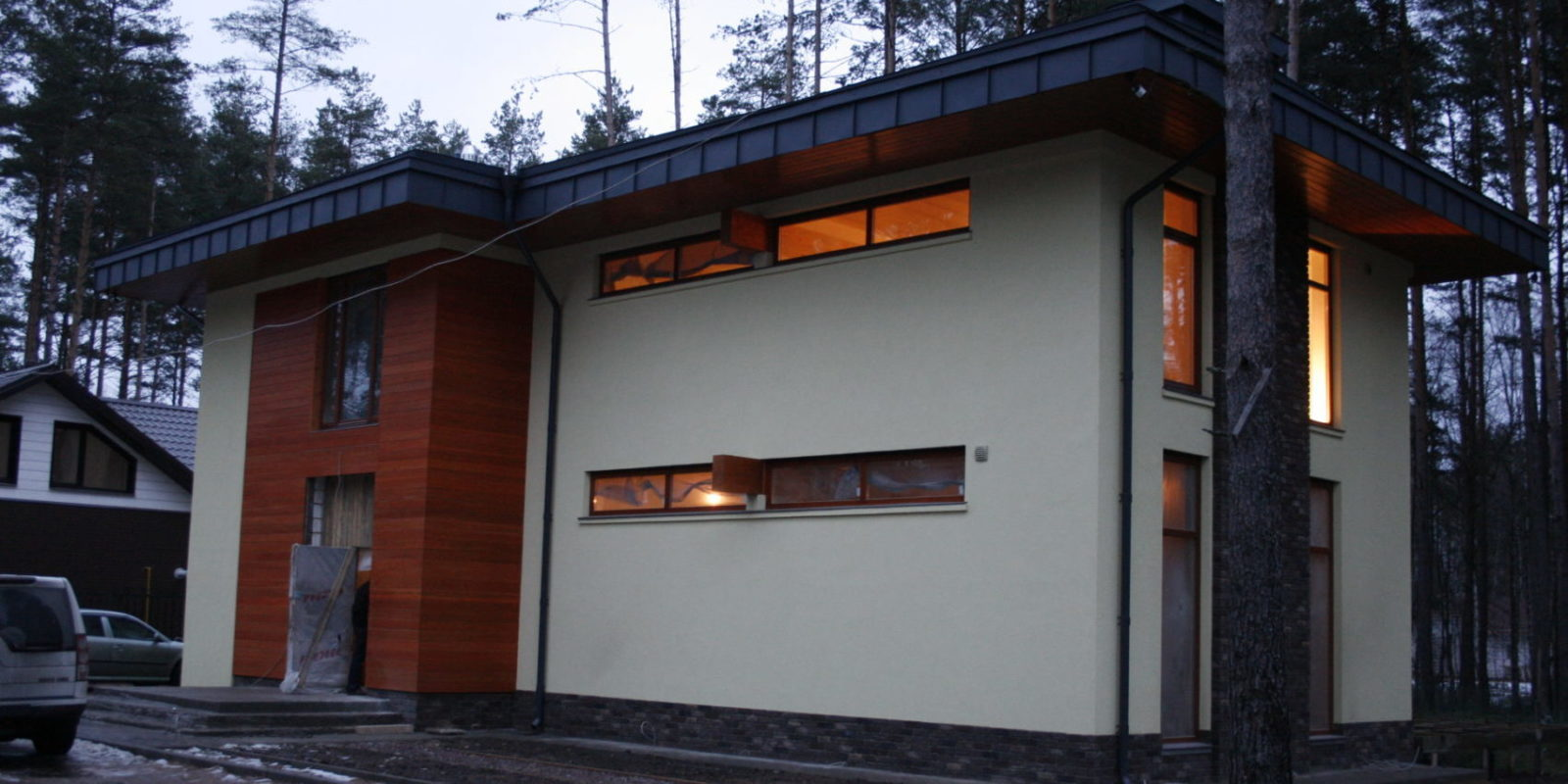 проект дома стиль Райта