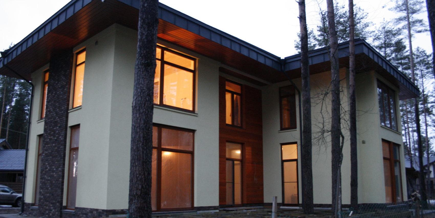 дом стиля райта