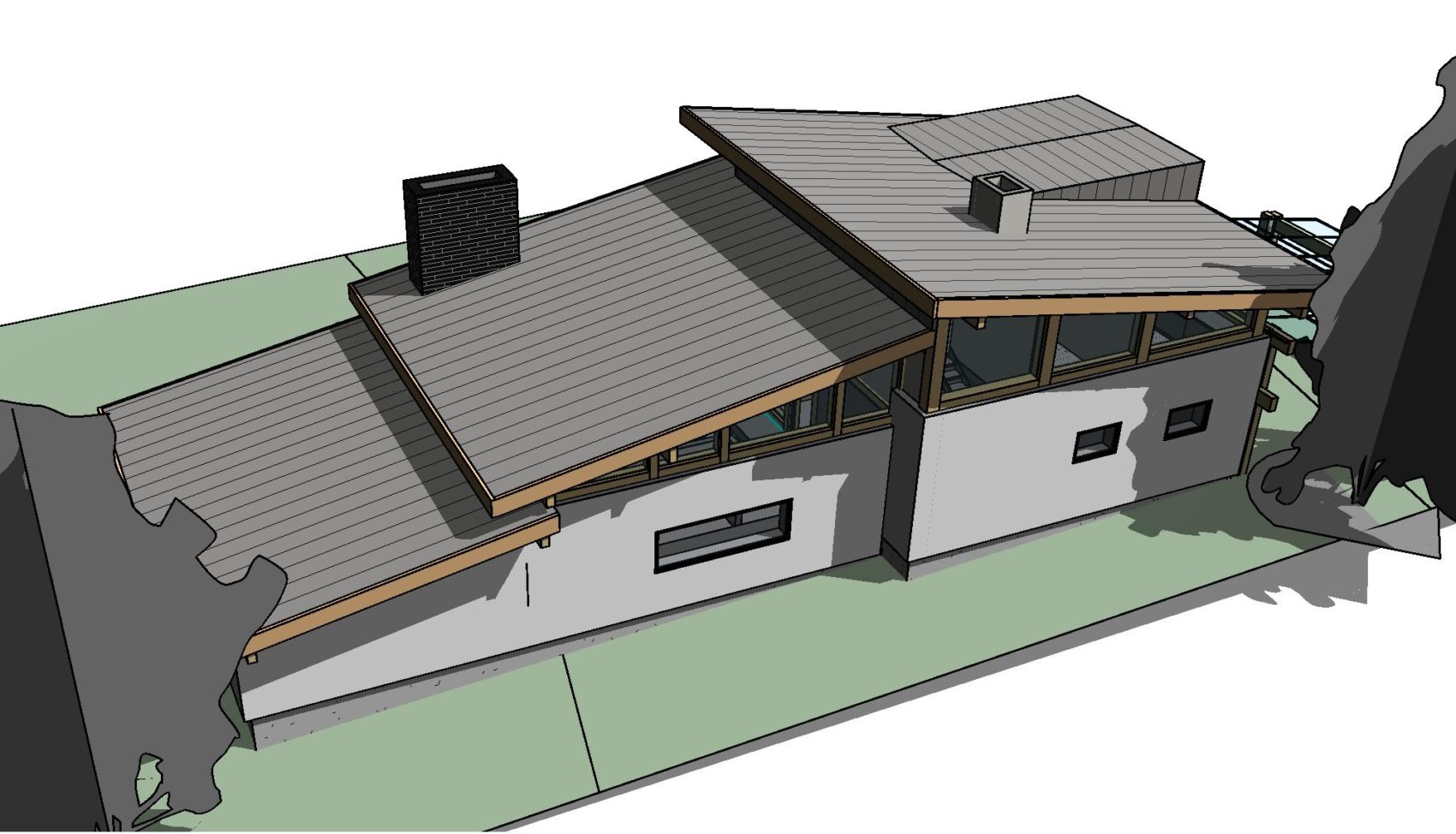проект комбинации кирпичного и фахверкового дома