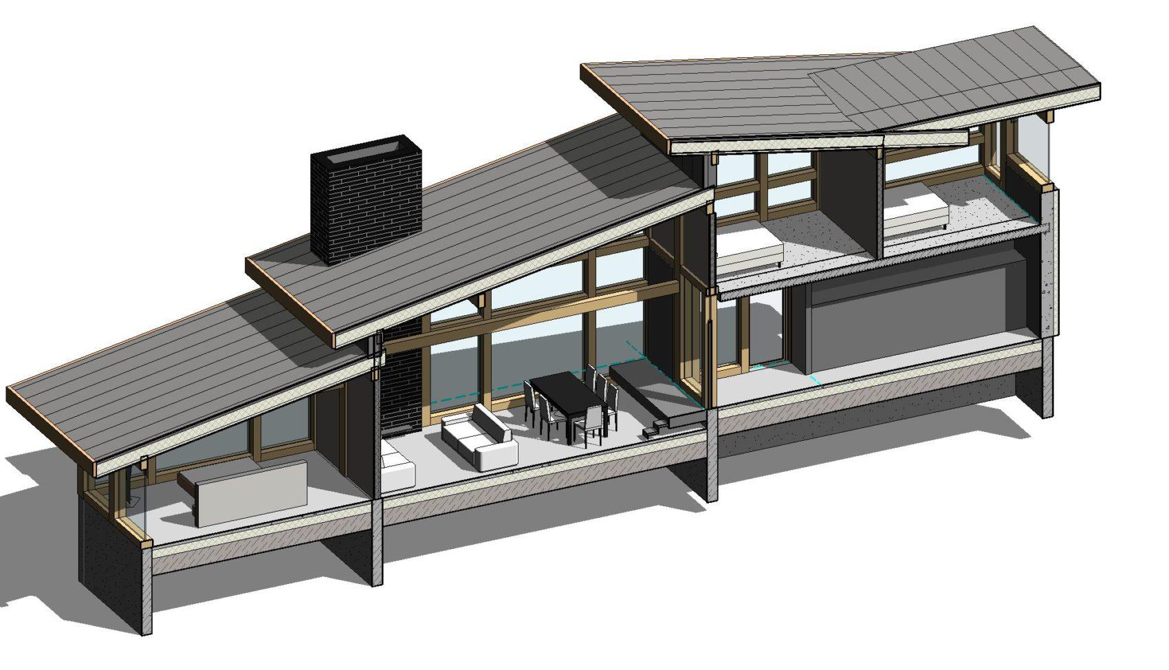 план этажа комбинированный фахверковый дом