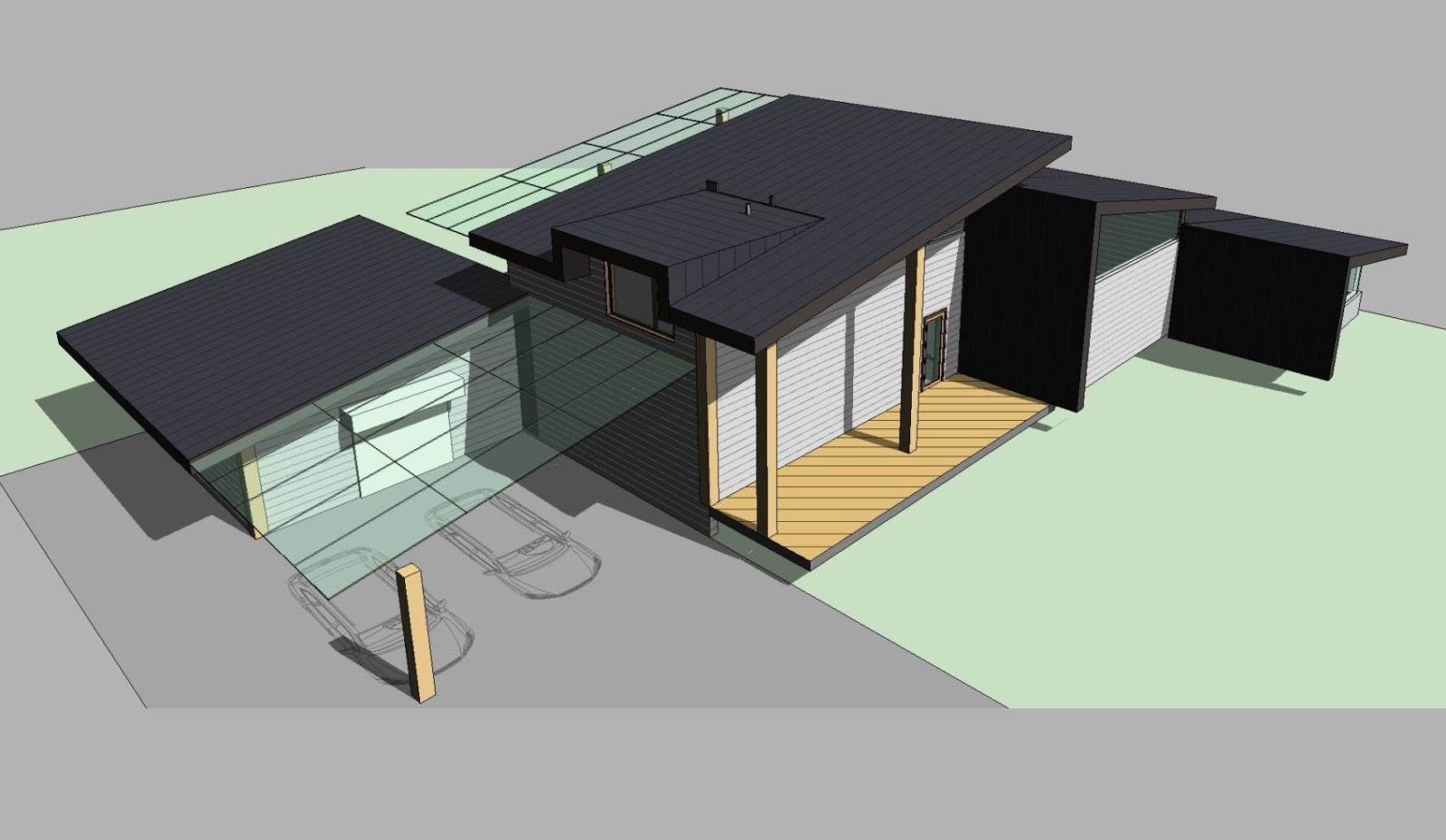 Эскизный проект современного скандинавского дома на оз. Симагино