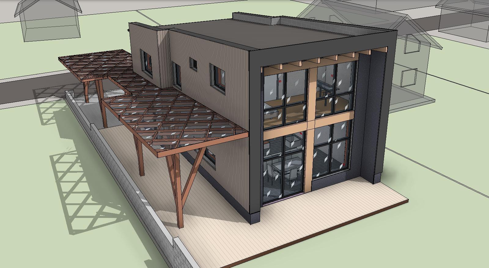 Проект фасадов технологичного дома