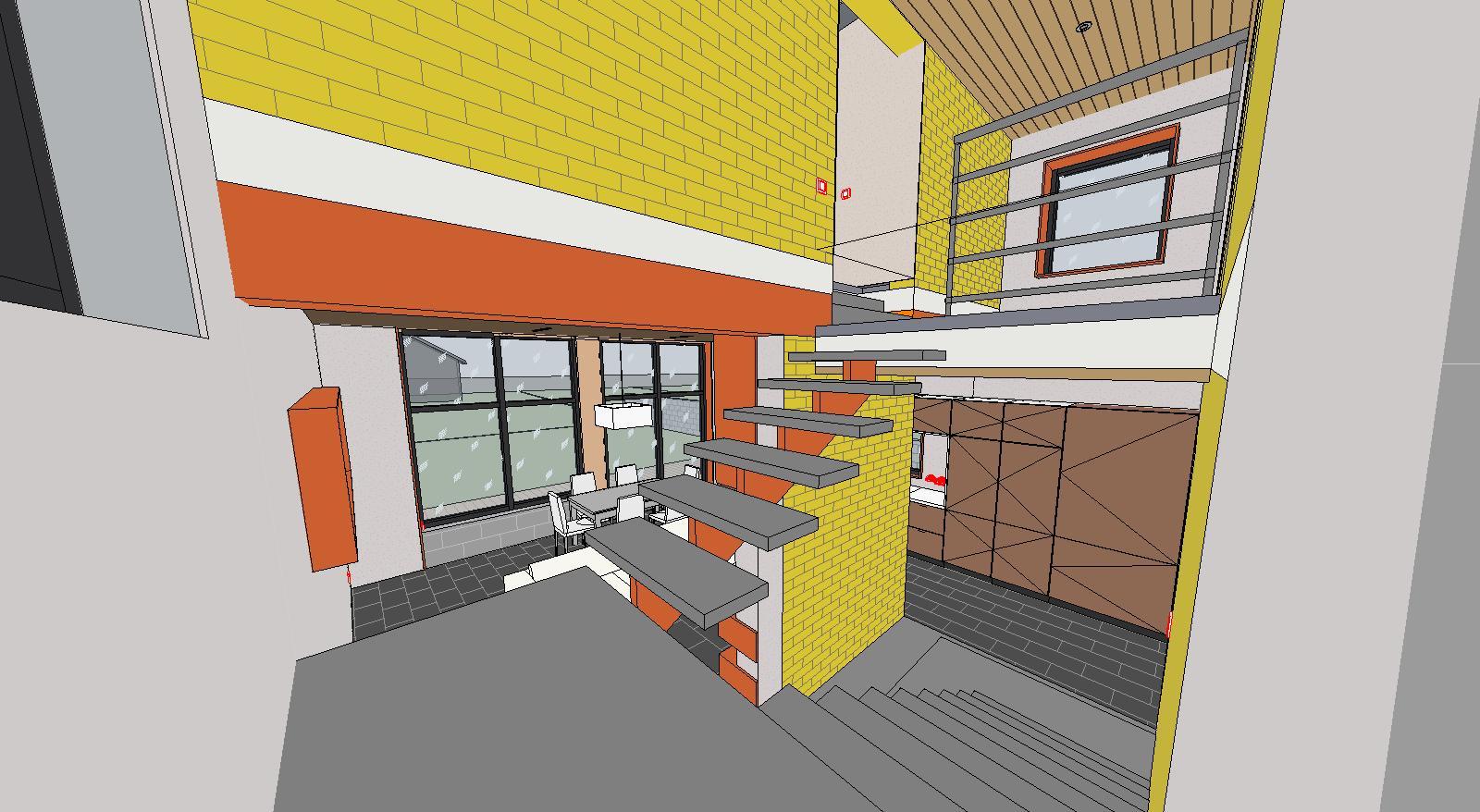 Проект дома интерьер лестница