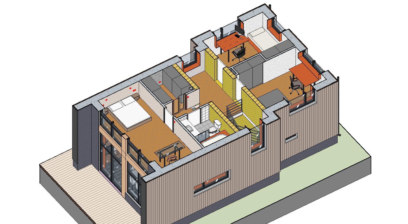Проект стен теплого дома