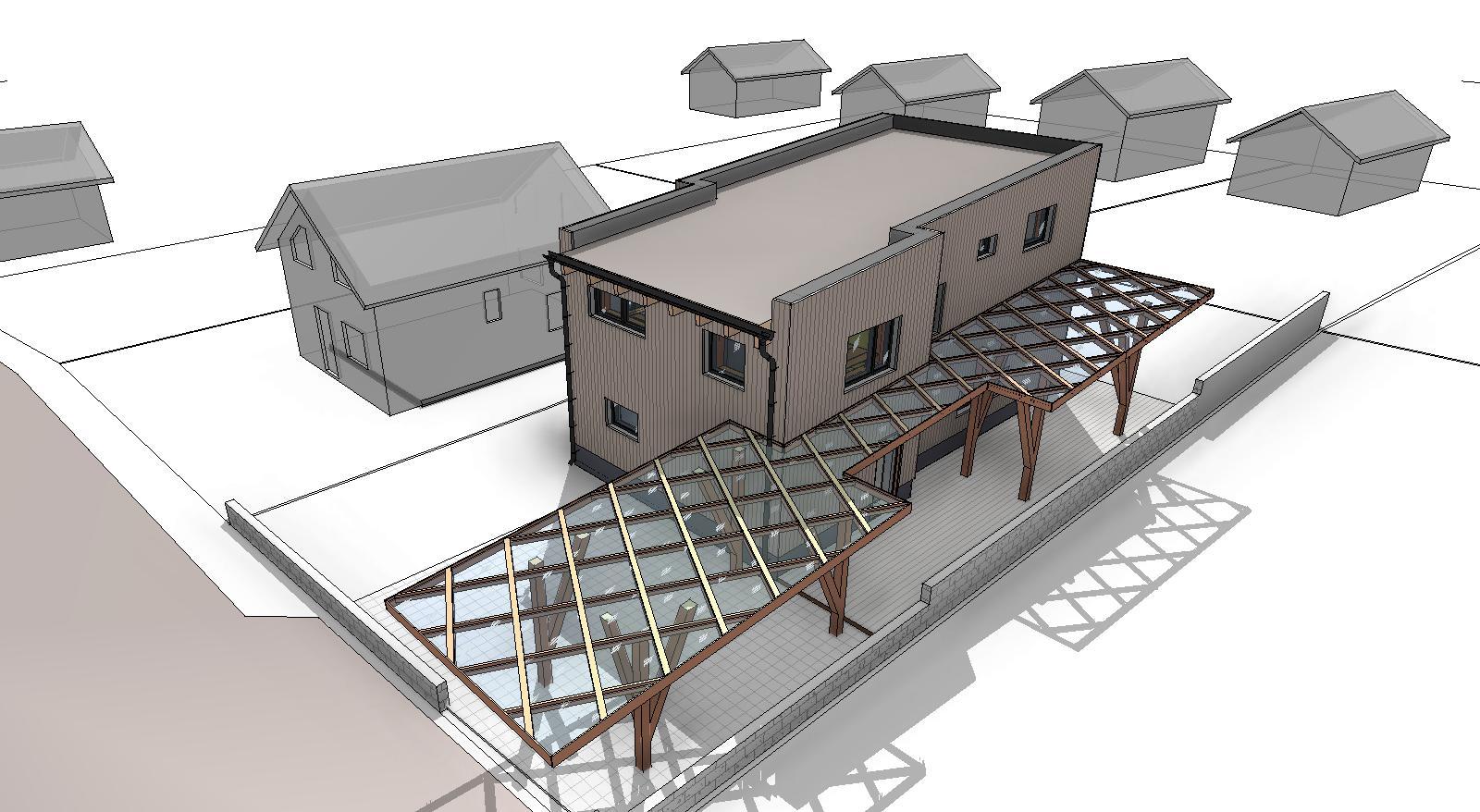 Проект дома вид сверху