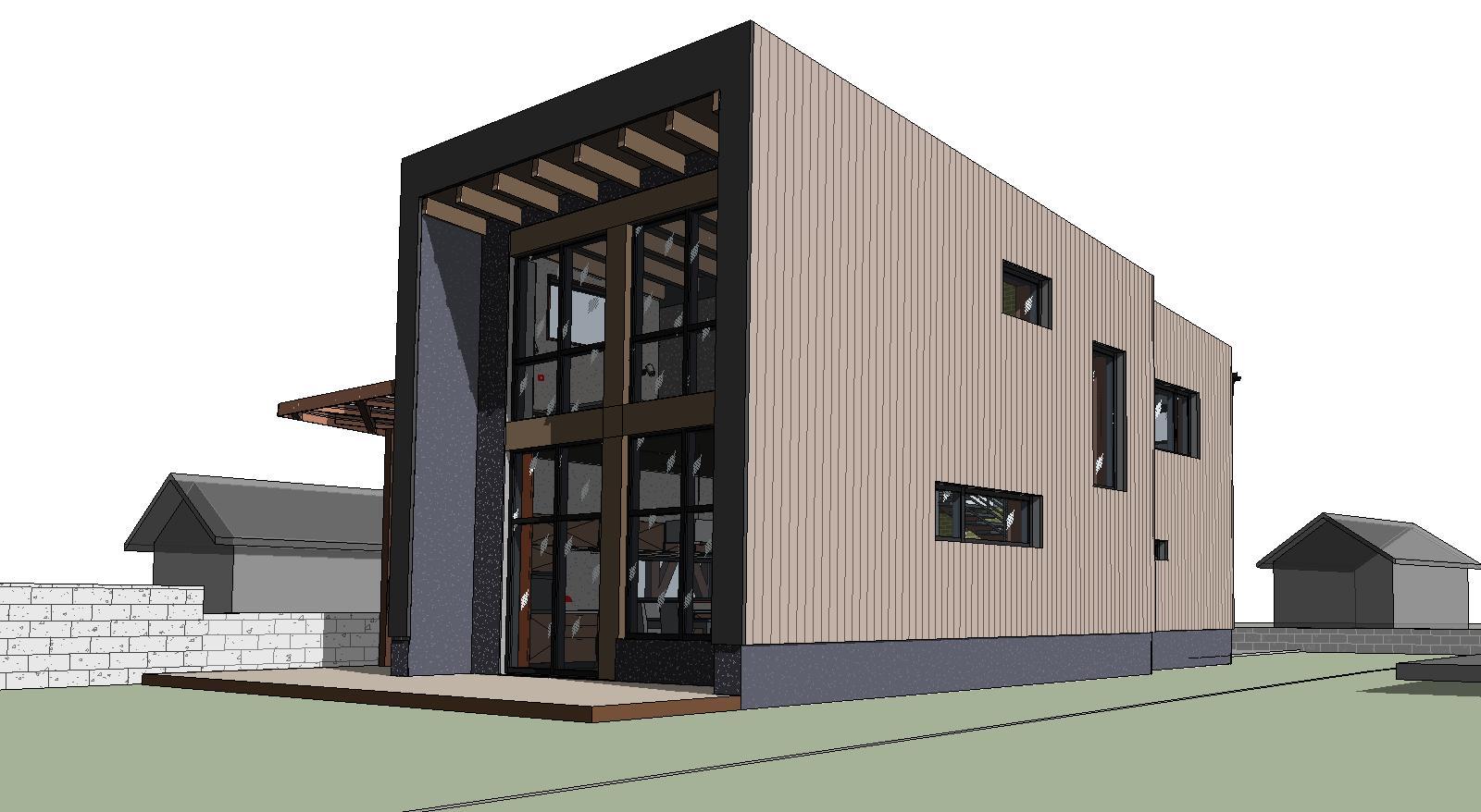 Проект фасадов дома в садоводстве