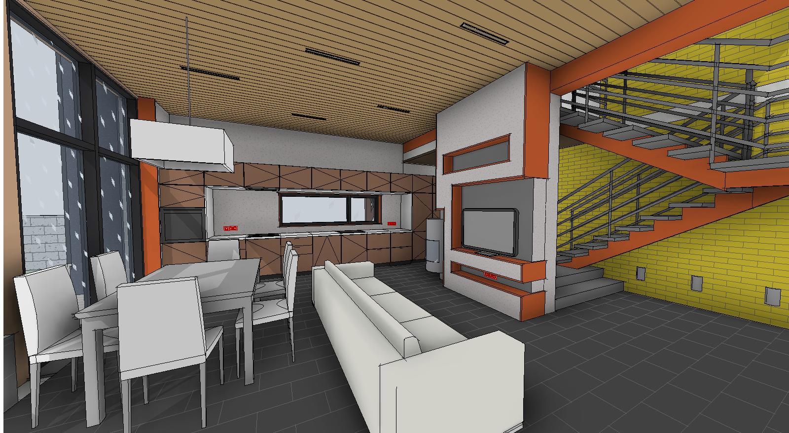 Проект интерьера 1 этаж