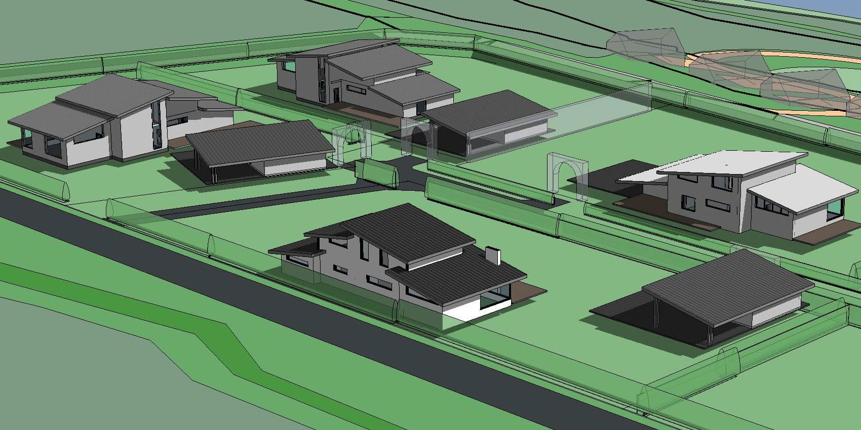 Проектирование группы домов