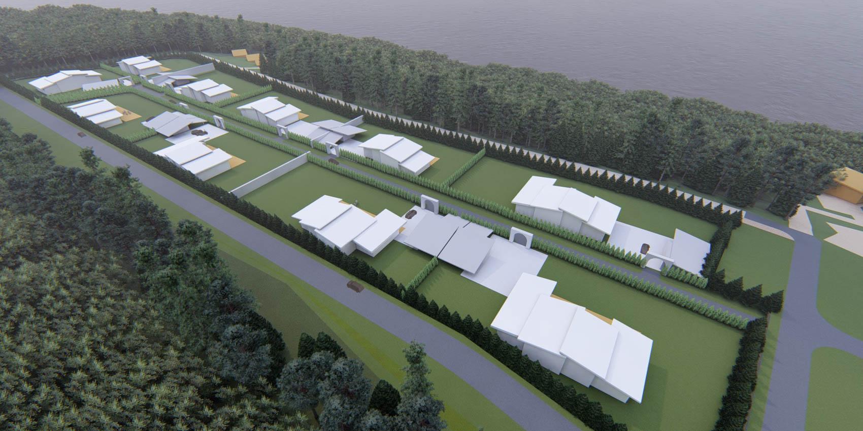 Проектирование загородного поселка